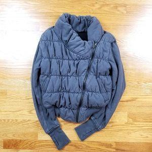 Lululemon Unique Style Zip Up Sweater Gray Jacket